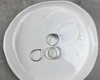 Small handbuilt ceramic plate