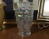 Federal Glass Yorktown Thumbprint Tumblers Iridescent 12 ounce