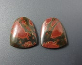 Gorgeous  pair Cherry creek jasper  cabochon , Earring pair S6575