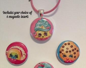 Shopkins Interchangeable Magnetic Necklace Set