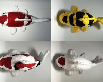 Koi Fish softie / plush toy made of fleece