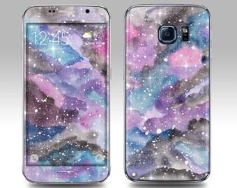 WATERCOLOR NEBULA Galaxy Decal Galaxy Skin Galaxy Cover Galaxy S6 Skin, Galaxy S6 Edge Decal Galaxy Note Skin Galaxy Note Decal Cover