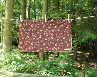 Large Dish Drying Mat - Brown Floral - Flea Market Fancy - by The Quilted Tulip - Kitchen
