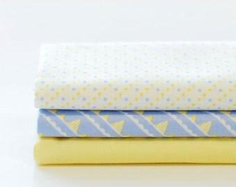 Set of 3 quarter fabric
