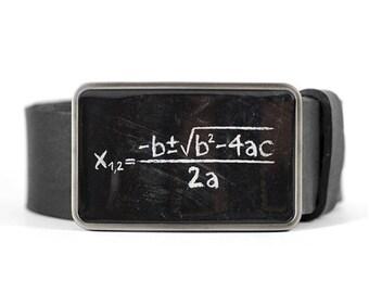 Math Belt Buckle, Science belt buckle, Geek belt buckle, Quadratic Equation, Gift for him, Gift for men, men's belt buckle