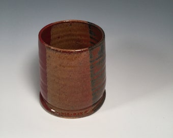 Small Tumbler - Wine Cup - Juice Cup - Bourbon Tumbler - Red Jasper  - Ready to Ship- ceramics - pottery - stoneware