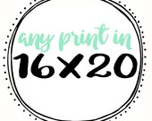 Any Print in 16x20