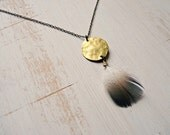 Boho chic feather necklace - Anya