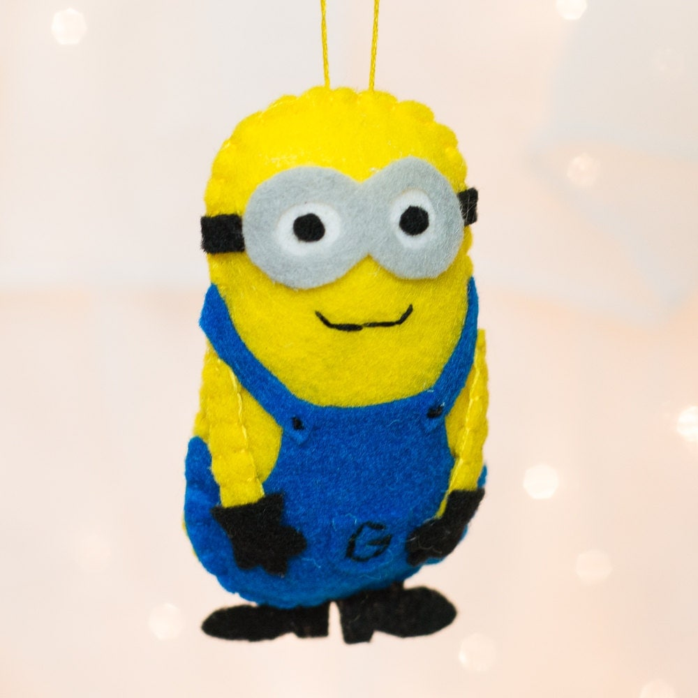 Felt Minion Ornament Felt Despicable Me Ornament