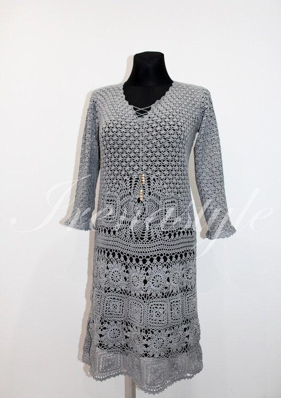MADE TO ORDER Crochet dress custom made, hand made, crochet - cotton Dress