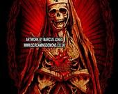 Gothic art, Punk art, Horror art print by Marcus Jones