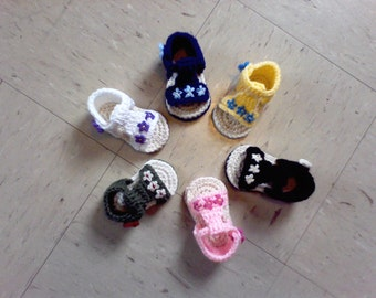 Baby Sandals, Crocheted Baby Sandals