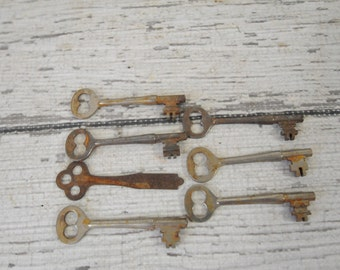 Vintage CORBIN Skeleton Keys Antique Old Door Key Arts Crafts