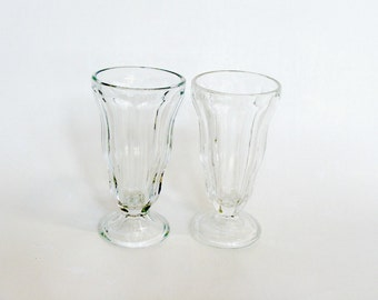 Anchor Hocking Ice Cream Parlor Root Beer Float, Soda Fountain Glasses, Parlor Glassware Collection