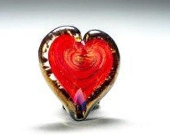Glass heart paper weight