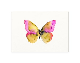 Watercolor Butterfly Illustration.