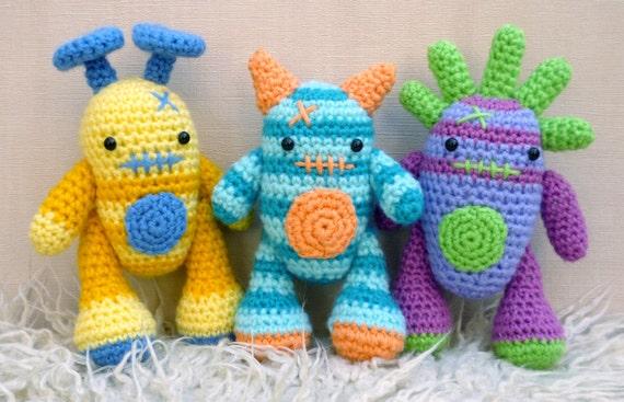 Mini Monsters Amigurumi Crochet Pattern Harry Barry and