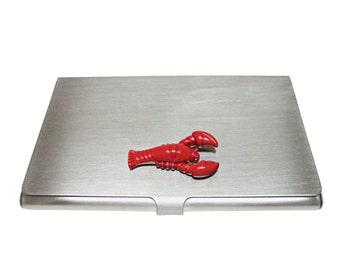 Red Lobster Business Card Holder