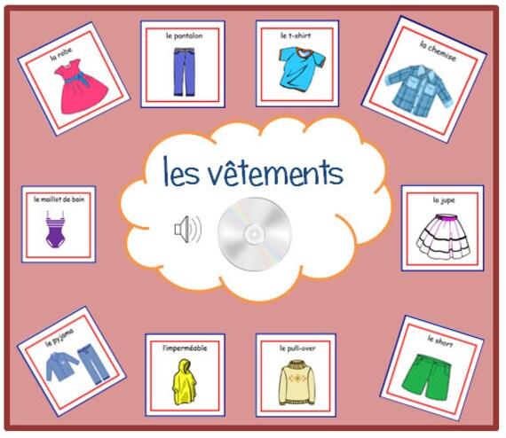 Kleidung Französisch KARTEIKARTEN Mit Aussprache Auf Audio Datei, Elemente  Der Kleidung Karteikarten, Französisch Wortkarten, Karten, Sprache Lernen  Kinder