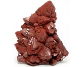 Red Quartz Crystal Cluster, Red Hematite included quartz over amethyst,  Mineral Specimen New Find from Morocco