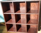 Tea Cup Cabinet, Woodworking, Collection Cabinet, Open Tea Cup Cabinet 9 cubicles 20x20x6, Dan Leasure