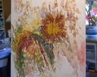 Sunflowers Oil Painting, Impressionism Autumn, Indian Summer Dream, Autumn Oil, Abstract Impressions, Fall Florals, KSonya, FromGlenToGlen