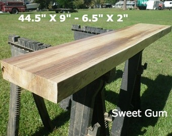Live Edge Sweet Gum Finished Wood Slab Bar Top, DIY Desk, Natural Edge Work Station, Console, Foyer, Side, Coffee Table, Counter Top 2003