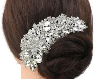 Vintage Bridal Hair Comb / Rhinestone Hair Comb / Swarovski Crystal Rhinestone Hair Comb / Hair Comb / Bridal Haircomb