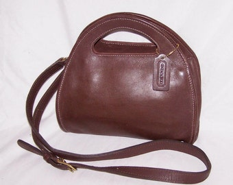 Auth Vintage Coach Carousel Brown Handbag Bag Purse Made in the USA