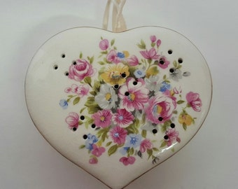 Darling Vintage Heart with Flowers Pomander~Very 60's~70's