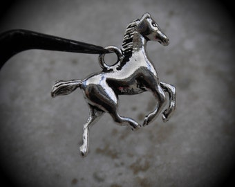 Horse Sterling Silver Plated Charm