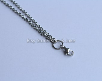 "24"" 3mm Rolo Chain Necklace Chain Stainless Steel Silver Rolo Chain Silver Chain Silver Necklace Jewelry Chain Rolo Necklace Supplies"