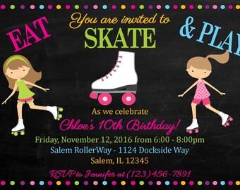 Roller Skating Invitation: (Digital File)