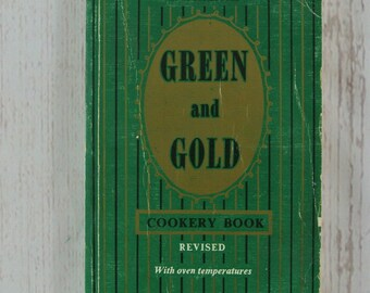 Vintage Green and Gold Cookery Book 38th Edition Australian Cook Book