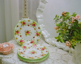 Sandwich Plates Roses Cottage Prairie Farmhouse Chic