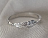 Feather ring, feather jewelry, ANGEL wing ring, silver feather, Angels ring, personalized ring, feather ring, message ring, angel jewelry