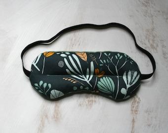 Sleep Mask Travel Mask Walk in the Garden Spa & Relaxation Sage Green Blue Eye Rice Lavender Sleep Mask