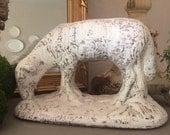 RESERVED...Vintage Large Concrete Sheep Statue Concrete Lamb