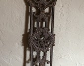 Antique Cast Iron Salvage Ornamental Iron Fence Gate Panel