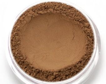 "Mineral Wonder Powder Foundation - ""Truffle"" - very dark shade with a warm to neutral undertone - vegan makeup"