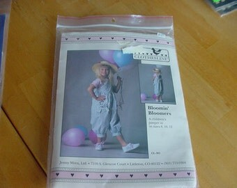 Vintage 1980s Clothesline Bloomin' Bloomers Pattern for Jumper, Multi Size 8-10-12, Uncut
