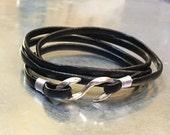 Leather Bracelet Men's Bracelet Leather Wrap Bracelet \ Leather Bracelet