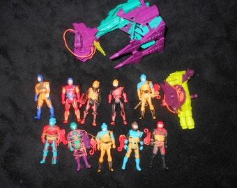 1987 Sky Commanders action figure & accessories lot - 1980's cartoon toys
