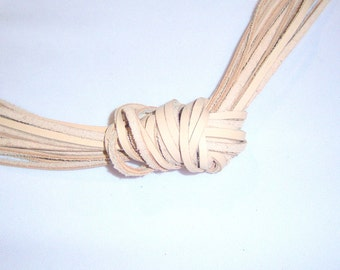 Genuine leather beige cord leather necklace - from 26 inches to 6 feet long - pick size of leather cords