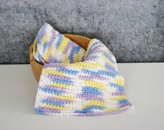 Pastel Spa Set, Crochet Spa Cloth, Cotton Wash Cloth Set, Crocheted Homegoods, Eco Friendly Spa Cloth, Bathroom Spa Cloth, Set of 2