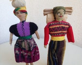 """Vintage ethnic traditional dolls woven fabric 8"""""""
