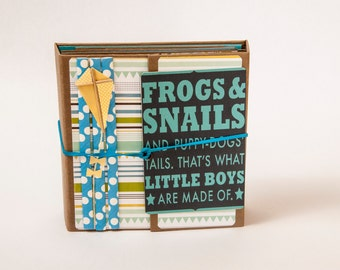 Boy: Frogs, Snails and Puppy Dog Tails Trifold Mini Album