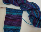 Saturated SPARKLE Sock Selfstriping  4 Color Celestial