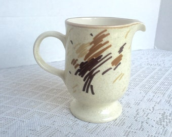 Vintage Stylemanor Brown and White Creamer Mikasa China Made in Japan 1980s