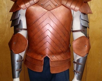 Leather Armor Chest & Back with Full Arms